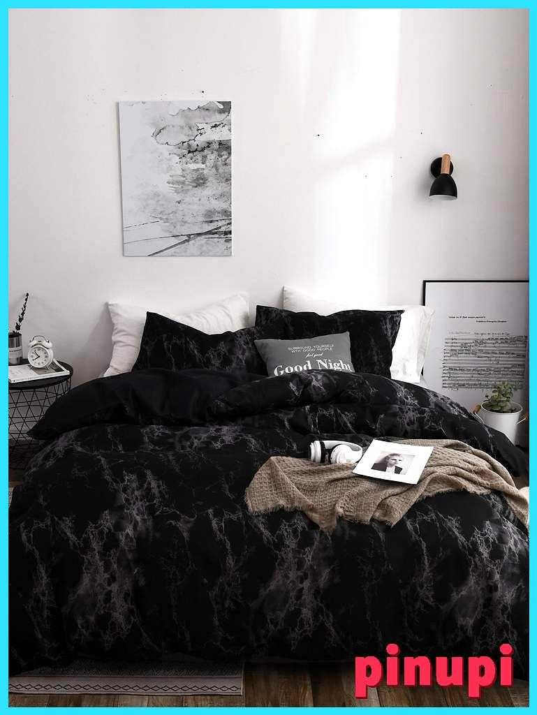 Black Marble Print Sheet Set Black Marble Print Sheet Set 100 Polyester Fabric Comes With A Duvet Cover And Two Pillowcases Duvet Cover Size 1 2m Twin 200 200 Cm 1 5m Full 200 230 Cm 1 8m Queen 228 228 Cm 2 0m King 260 230 Cm Pillow Case Size 1 2m Twin 50 70 Cm 1 5m Full 50 70 Cm 1 8m Queen 50 70 Cm 2 0m King 50 90 Cm Black Marble Print