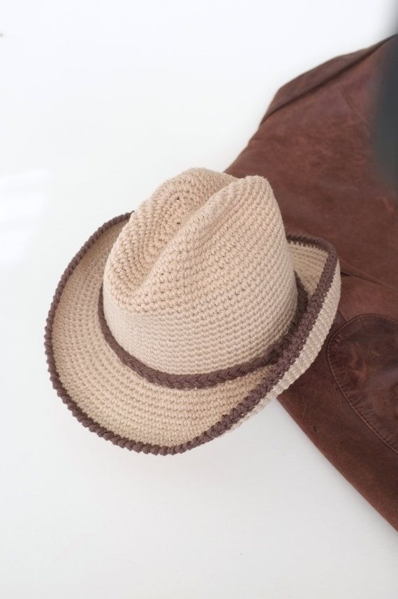 1f2b91878e6 Baby Cowboy Hat Fedora Toddler Halloween Costume Baby Photo Props Baby Boy  Shower Gift Crochet Toddler Hats Cute Hats by Mila Baby  Toddler Cowboy hat