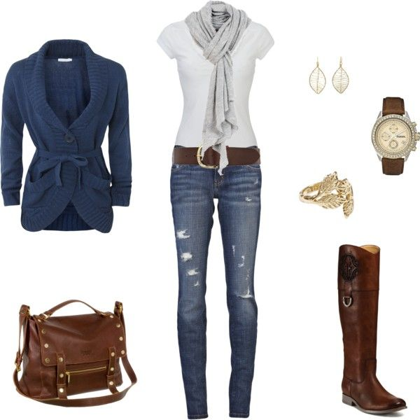 I would probably choose different jeans, but I love the boots and the sweater.