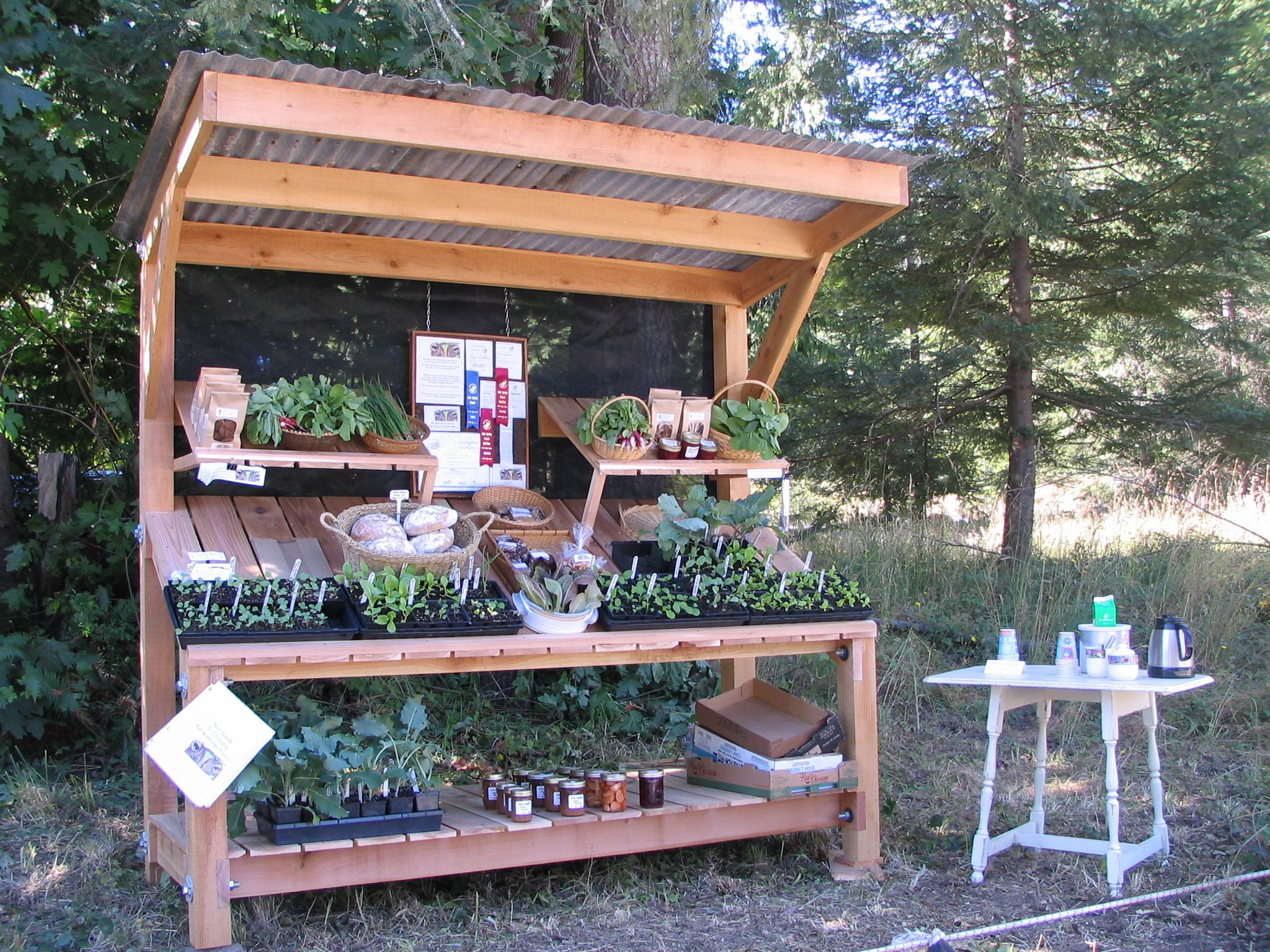 On the *NEW* farm stand Farm stand, Vegetable stand