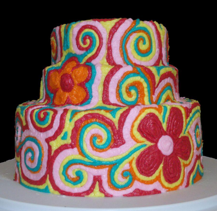 Fun Cakes for Teen Girls Fun colorful birthday cake some far