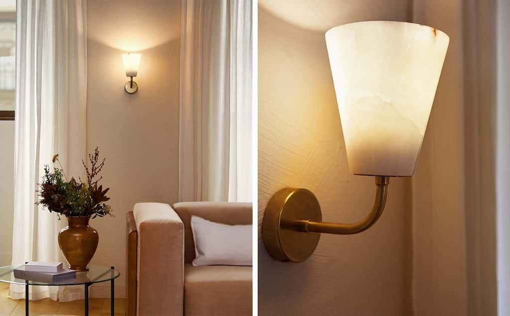 Imagen Del Producto Aplique Pared Alabastro Iluminación De Pared Iluminación De Sala De Estar Pared