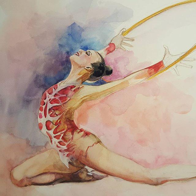 Художественная гимнастика картинка разукрашенная цветными