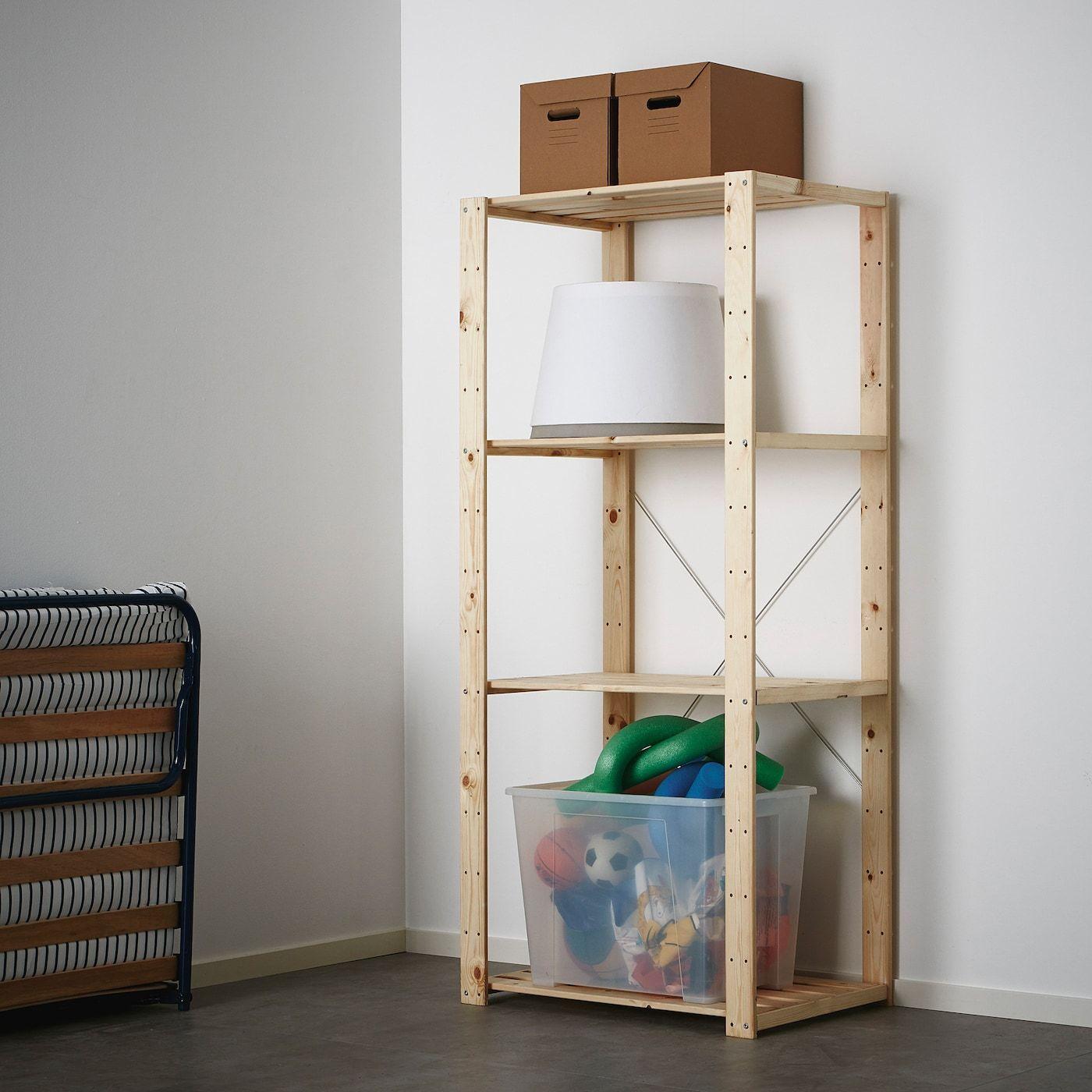 Ivar Shelving Unit Pine 89x50x179 Cm Ikea Wooden Shelves Shelves Ikea