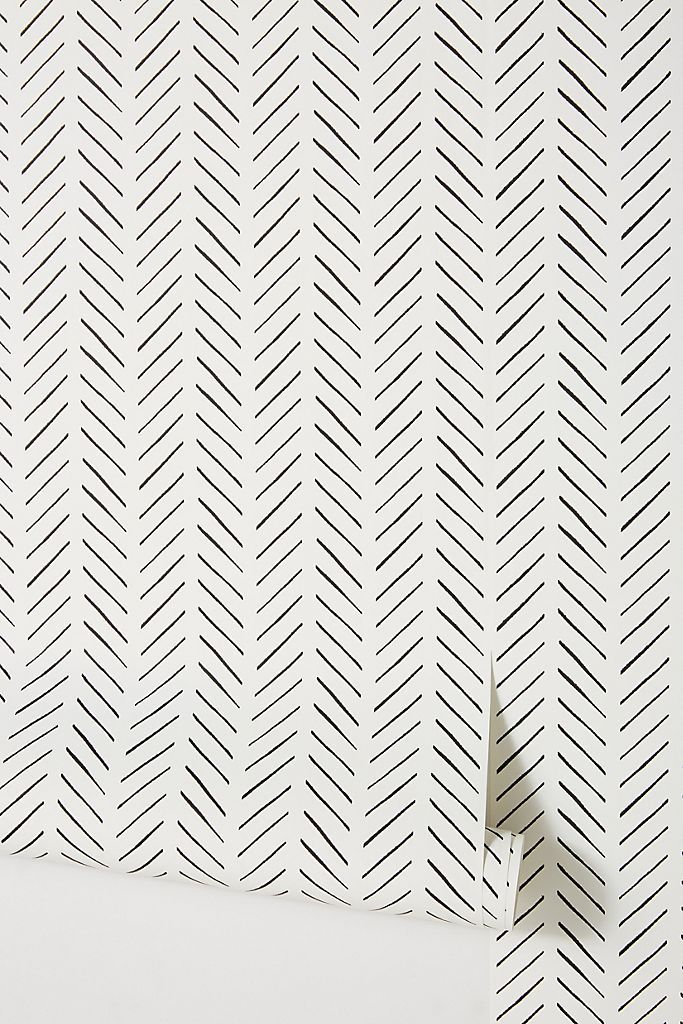 Photo of Magnolia Home Olive Branch Wallpaper by in Black, Wall Decor at Anthropologie