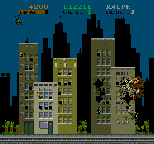 Rampage Video Game In This Classic Video Game The Objective Is