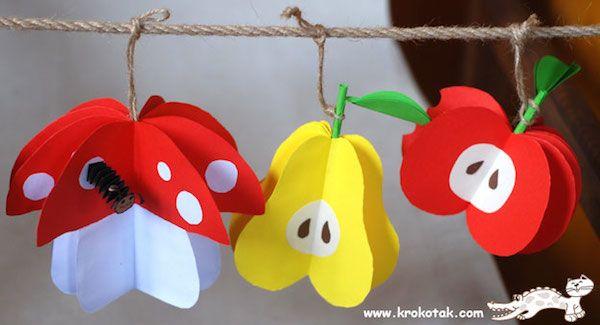 Manualidades Con Frutas Coloridas Ideas Clase Pinterest - Manualidades-con-frutas-para-nios