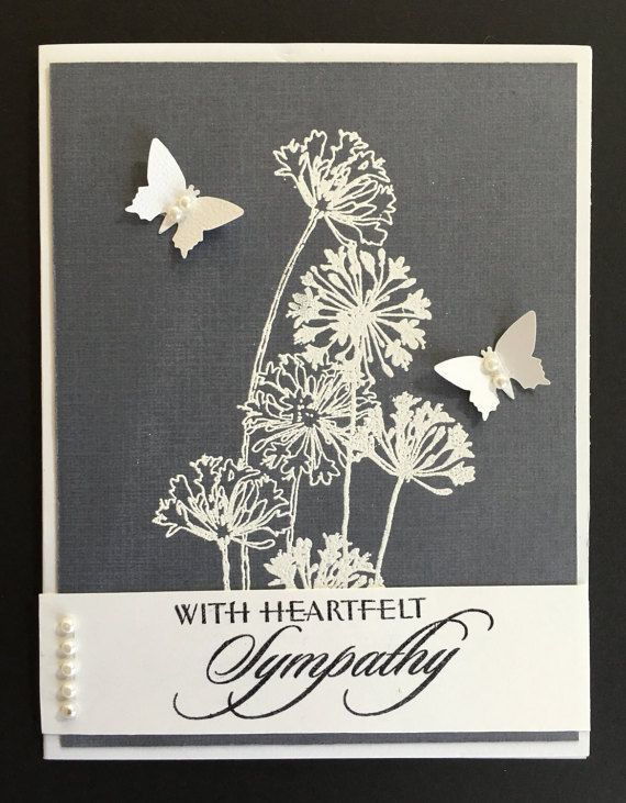 Sorry for your loss, Handmade sympathy card, Loss