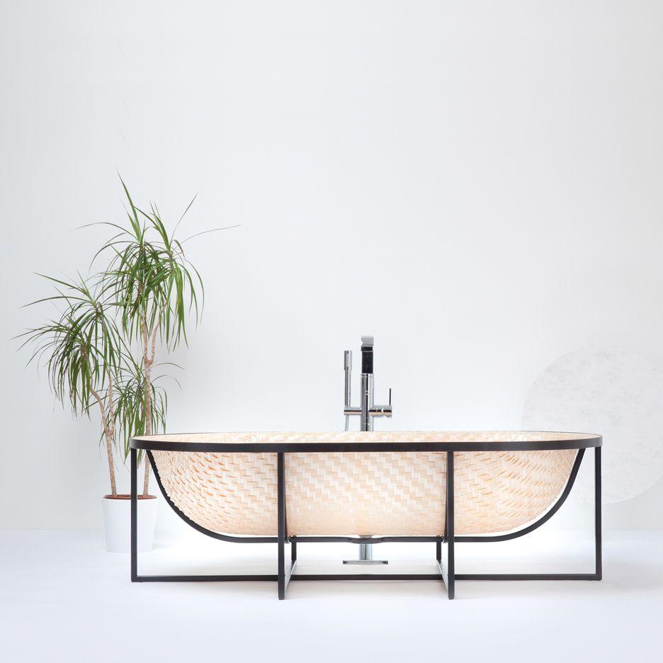 Steel tubes support Patricia Urquiola\'s Cuna bath for Agape | Otaku ...