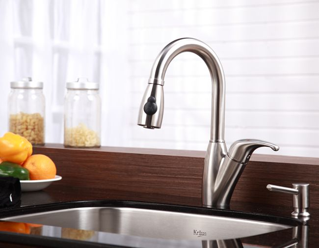 A kitchen faucet can add style to your laundry room Laundry Room