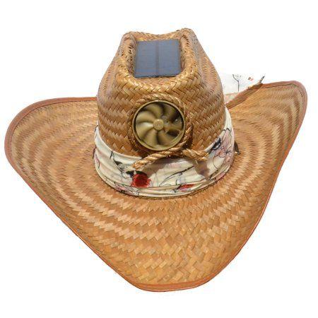 a303c0747 Kool Breeze Solar Straw Cooling Hat - Cowgirl w. Starter Scarf (L ...