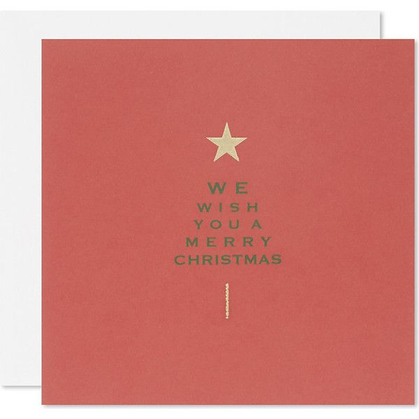 Boxed Cards We Wish you a merry christmas cards set of ten ($34) ❤ liked on Polyvore featuring home, home decor, christmas home decor, boxed christmas cards, boxed xmas cards and star home decor