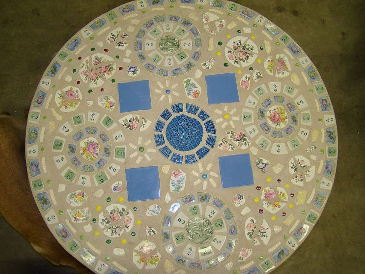 Mosaic Table for the Patio or Garden