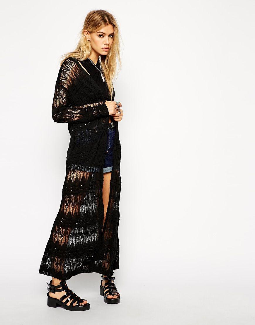 ASOS Maxi Longline Cardigan In Crochet | crochet | Pinterest ...