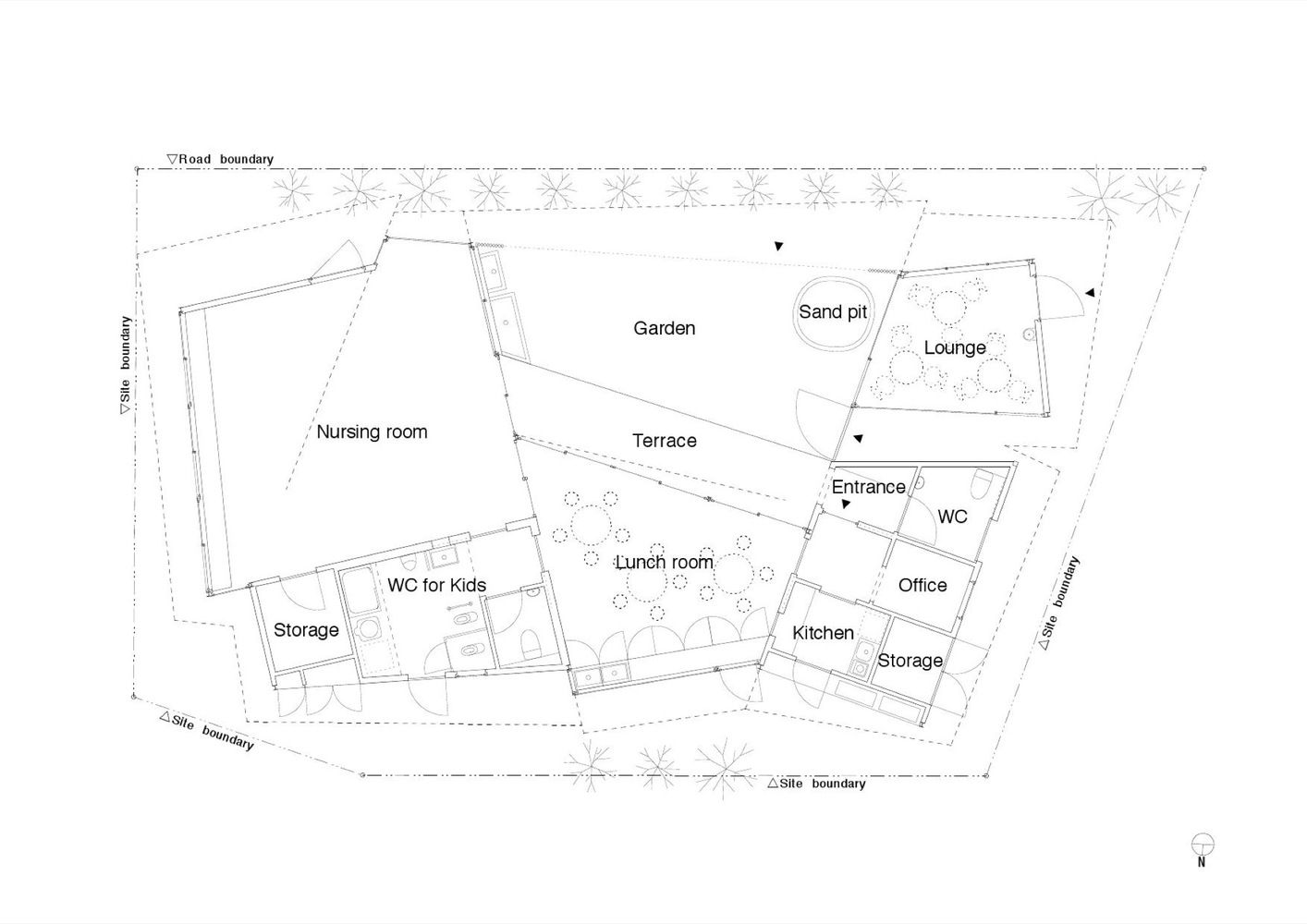 Gallery Of Toranoko Nursery Takashige Yamashita Office 15 Office Floor Plan Office Floor Floor Plans