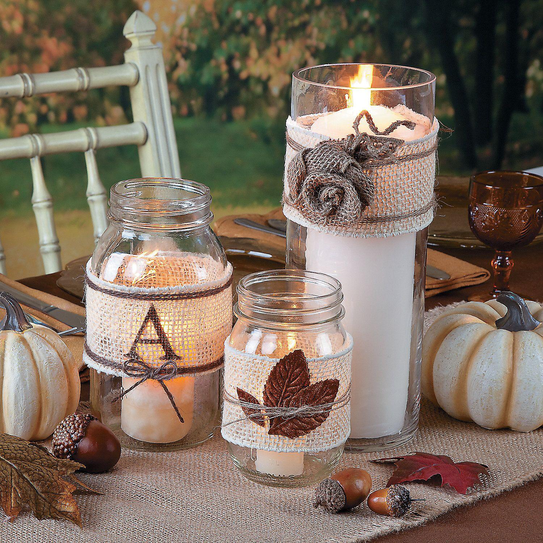 Rustic Wedding Ideas Using Burlap: Wedding Centerpiece Candle Idea-using Burlap, Twine And