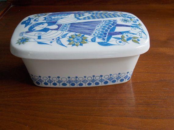 Turi design Figgjo Flint Lotte design from Stavangerflint Ceramic TV-set Made in Norway 1960