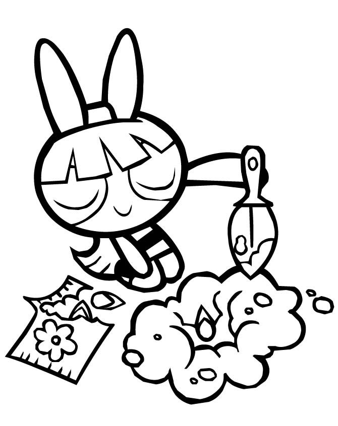 Powerpuff Girls Blossom Planting Flowers Coloring Pages - Powerpuff ...