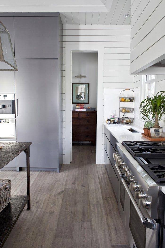 farmhouse style two ways gray white french oak floors simple and clean farmhouse style on farmhouse kitchen flooring id=39722