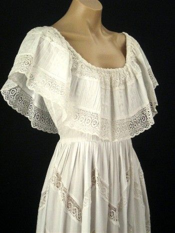 Vintage Mexican style wedding dress 1970s   Vintage images ...