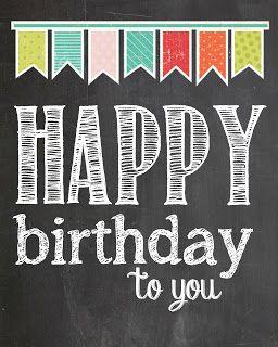 Party Happy Birthday Printable Happy Birthday Chalkboard Happy Birthday Free