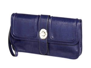 This blue wristlet is a fresh take on the classic clutch—it's easy to carry and can fit a surprising amount of stuff. $40 from our new line @JCPenney