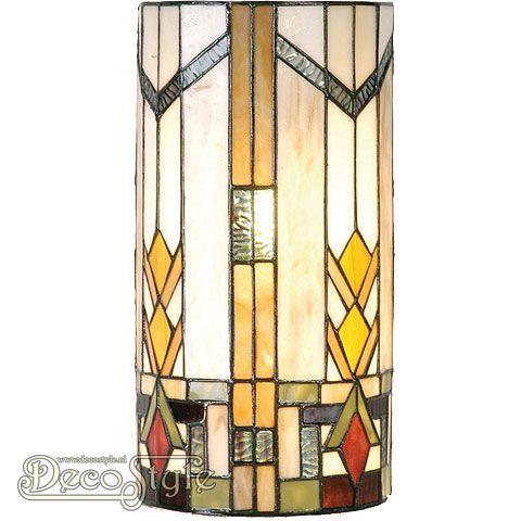Tiffany Wandlamp Zala  Een bijzonder mooie halfronde Tiffany wandlamp. Deze Tiffany wandlamp is helemaal met de hand gemaakt van echt Tiffanyglas. Dit originele glas zorgt voor de warme uitstraling. Deze Tiffany wandlamp wordt geleverd met bevestigingsbeugels. Met 2x kleine fitting (E14). Afmetingen: Hoogte: 36 cm Breedte: 18 cm