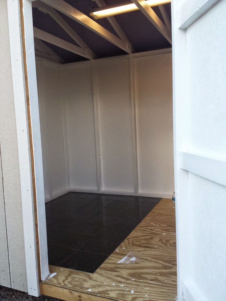 The Craft Shack She Shed Craft Room Shed Floor Floor Installation Garden Tool Shed