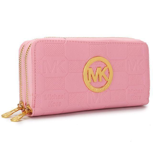 Michael Kors Logo Signature Large Pink Wallets : Michael Kors Outlet, Michael  Kors Outlet,