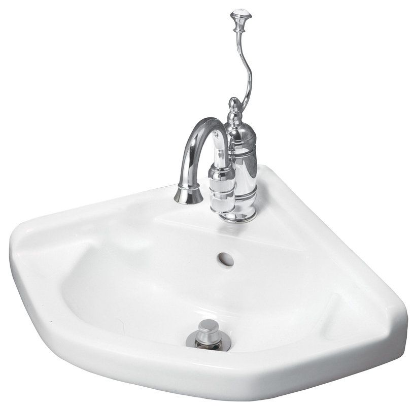 English Turn 20 Wall Mounted Bathroom Sink With 1 Pre Drilled Faucet Hole Rear Overflow Wall Mounted Bathroom Sinks Corner Sink Bathroom Vintage Tub Bath