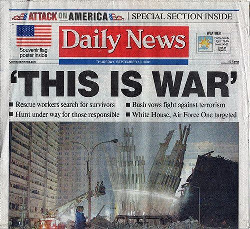 a news article about the september 11th attack September 11 attacks 9/11: newspaper front pages the day after september 11 gallery of images showing how uk and us newspapers covered the attacks on the world trade center and the pentagon.