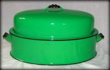 Vintage Vollrath Kook King Enamel Roasting Pan USA Beautiful Condition