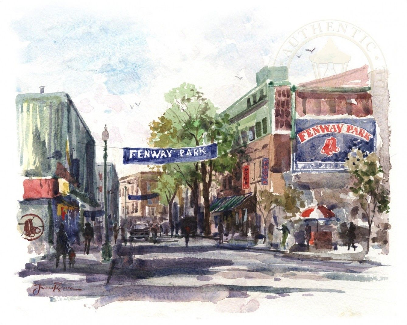 Painting & Co - Thomas Kinkade - Yawkey Way -  Boston, Massachusetts (2008)