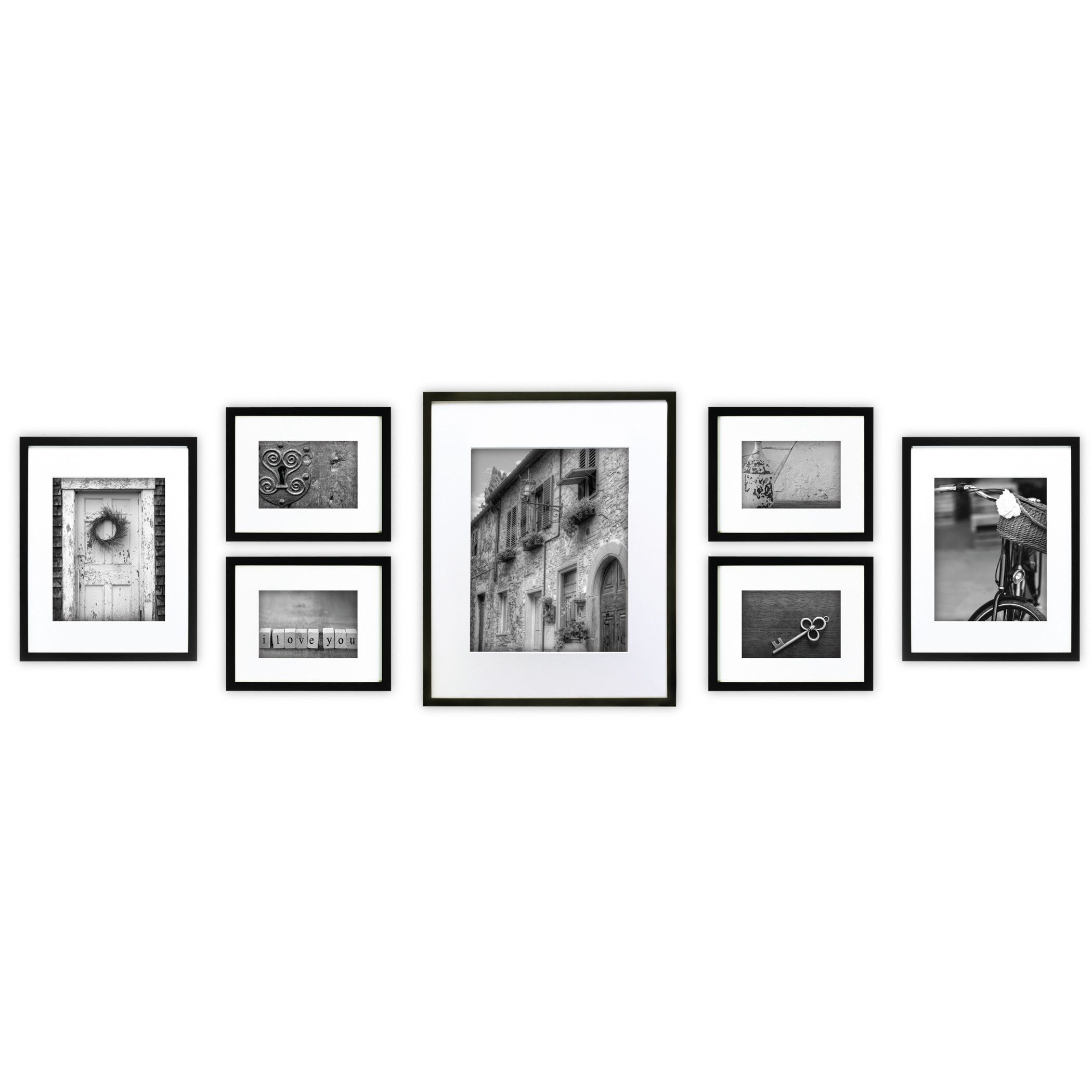 Features Set Includes 7 Pieces Black Frame Includes Two Sets Of