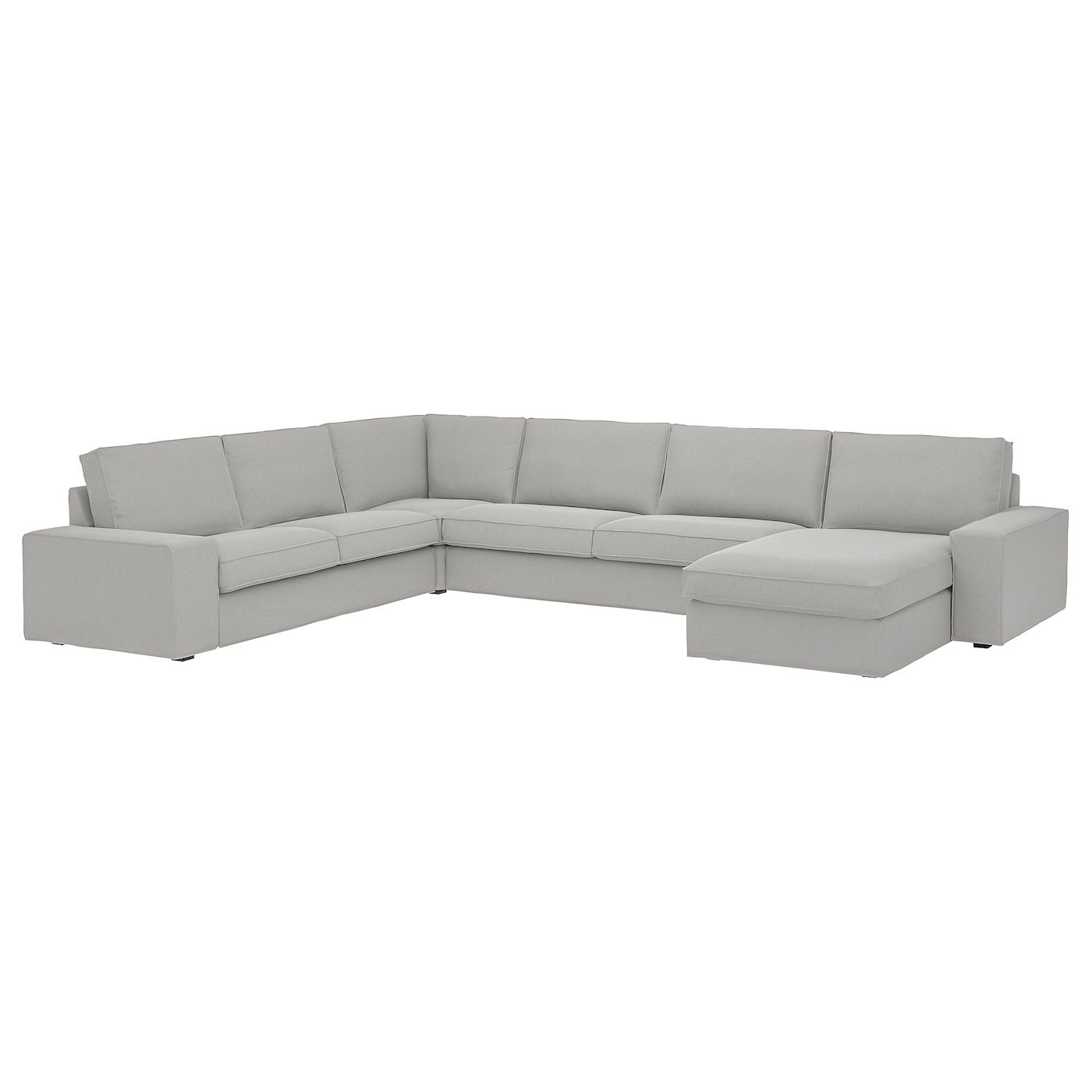 Kivik Sectional 5 Seat With Chaise Tallmyra White Black Ikea In 2020 Sectional Chaise Deep Seated Sectional