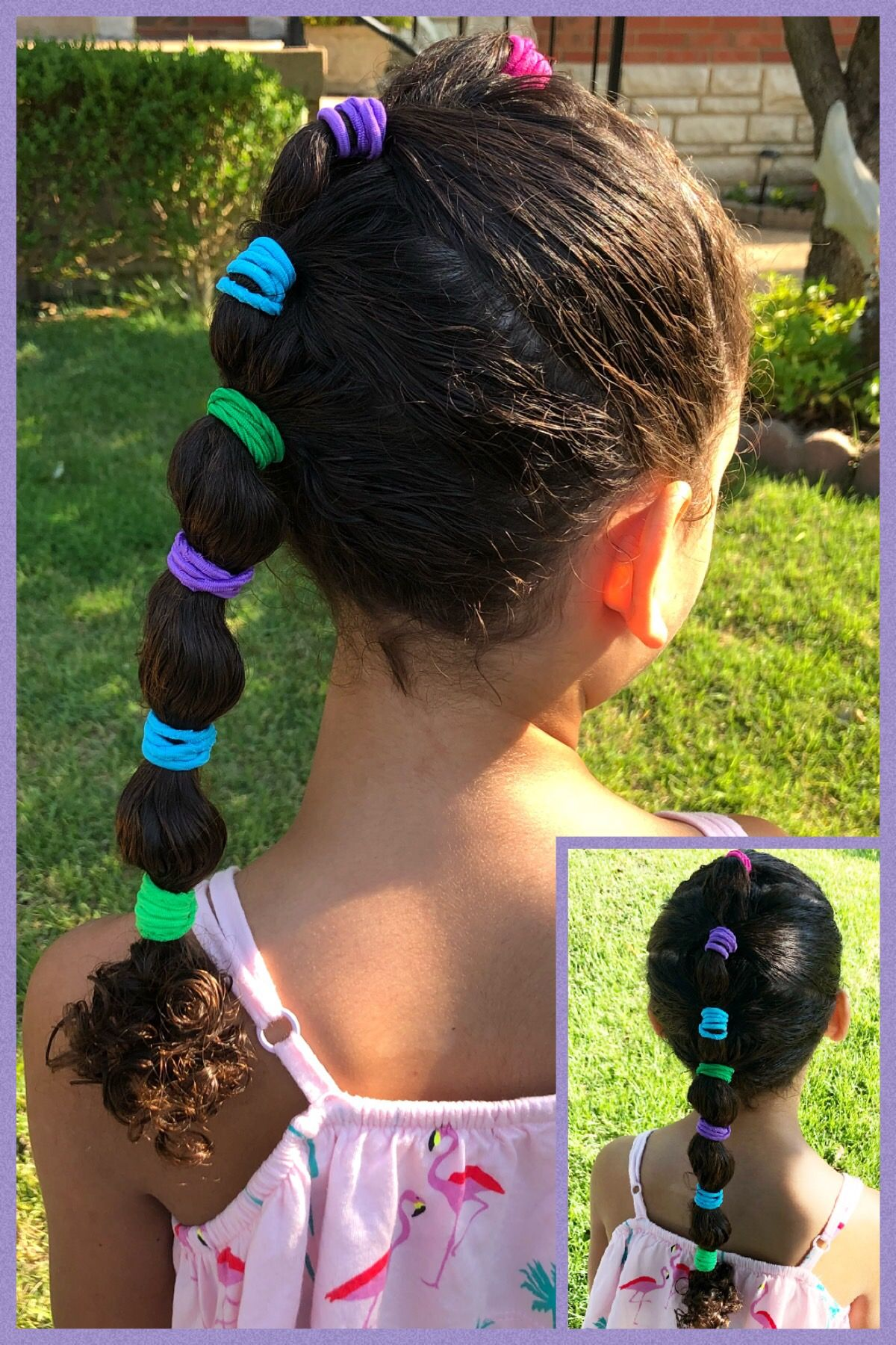 Little Girl Unicorn Ponytail Hairstyle Little Girl Hairstyles Hair Styles Girl Hairstyles