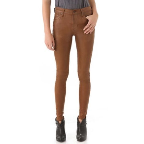 """Citizens of Humanity """"Rocket Jeans"""" in Brown Barely ever worn, perfect condition! Super cute. Size 27 but fits more like a 25/26. Very stretchy material. High rise skinny fit. Citizens of Humanity Jeans Skinny"""