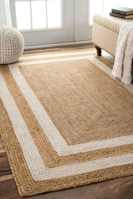 Nuloom Hand Woven Don Jute With Fringe