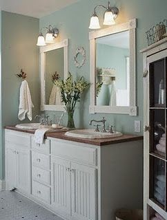 Double Vanity With Towel Storage To Side Downstairs Bathroom Marc Wants A Central Tower Like The One In Picture For Upstairs