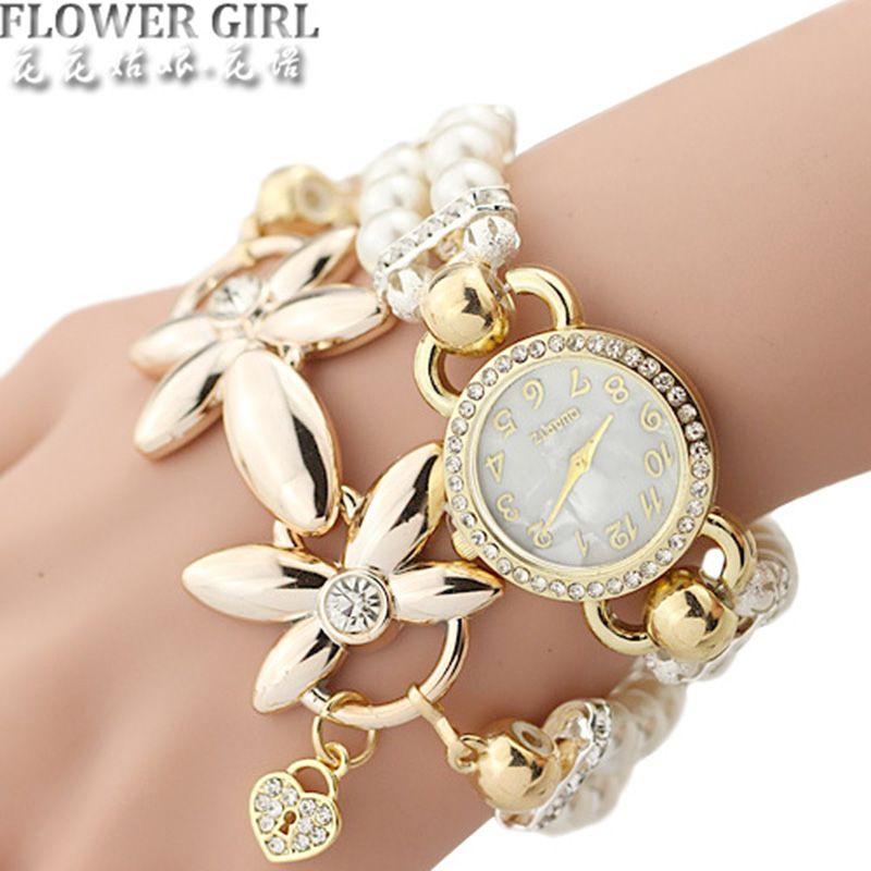 8a89a84d439 Barato DA MENINA de FLOR Nova Marca Relógio De Quartzo Das Mulheres Relógios  Senhoras Pulseira Relógio