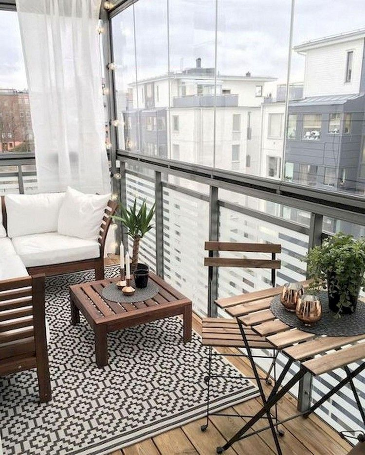70 Stuning Small Apartment Balcony Decor Ideas And Makeover Make Your Summer Beautiful Small Balcony Design Apartment Balcony Decorating Balcony Decor
