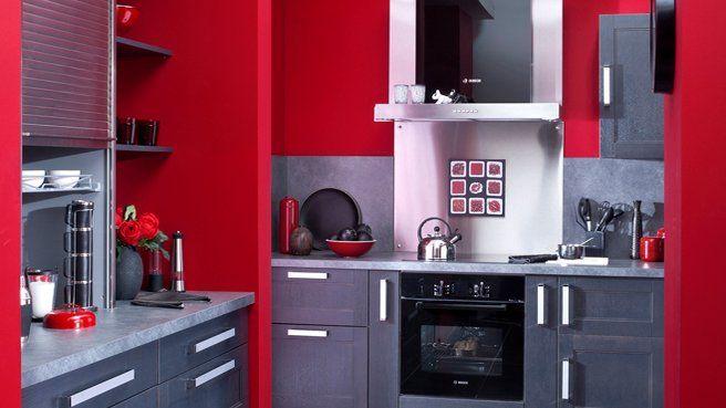 J Aime Cette Photo Sur Deco Fr Et Vous Deco Cuisine Rouge
