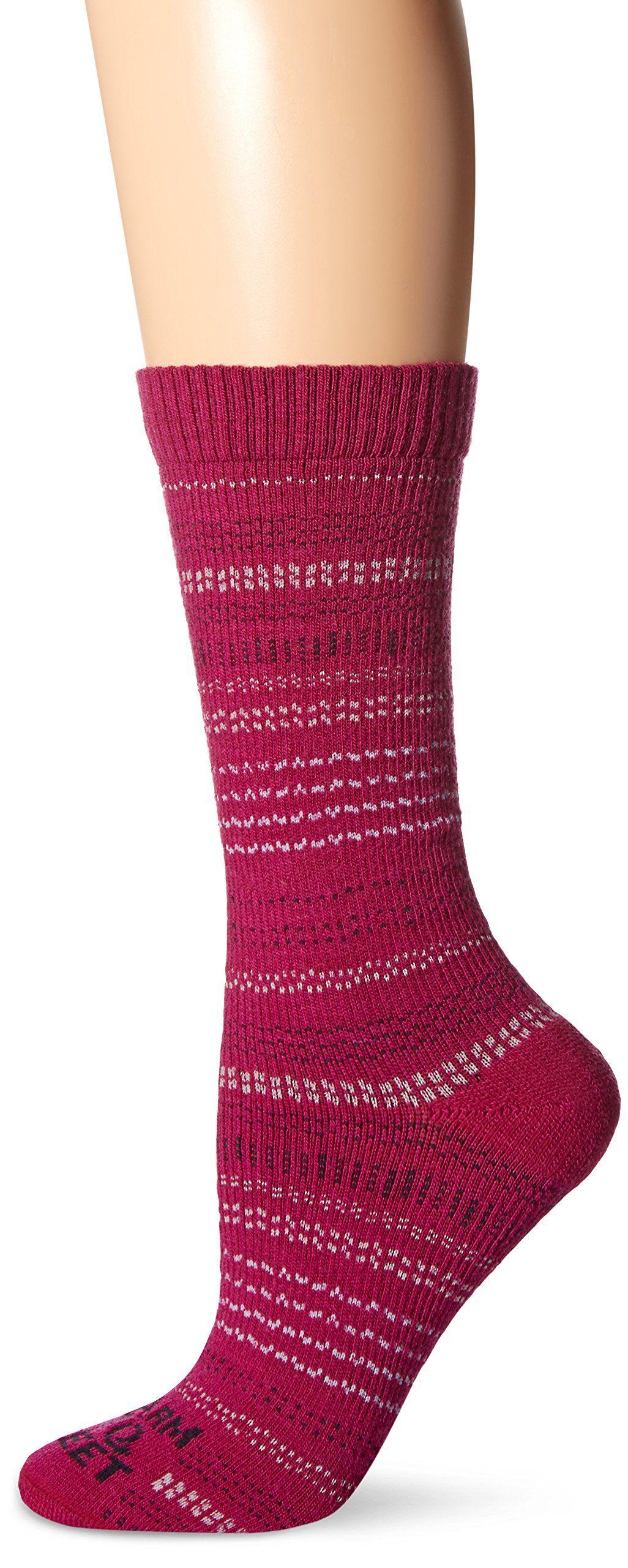3bb7ef5564 Farm to Feet Women's Spring Creek Ultralight Crew Socks, Berry ...