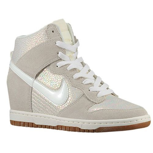 Nike Dunk Sky Hi - Women& - Basketball - Shoes - Met Luster/Sail/Gum Med  Brown/Sail