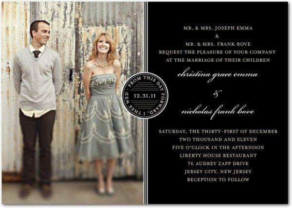 cute winter wedding invitations