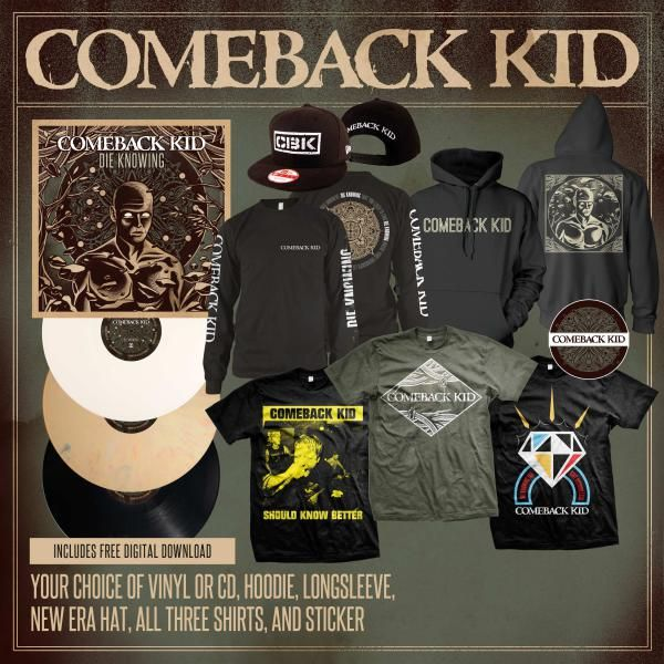 75e26a7be Comeback kid 'Die knowing' merch | Things To Buy | Movie posters ...