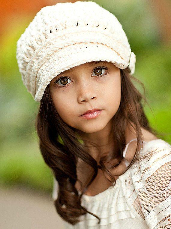 Kids Newsboy Hat 4T Toddler to Preteen Crochet by TwoSeasideBabes ...