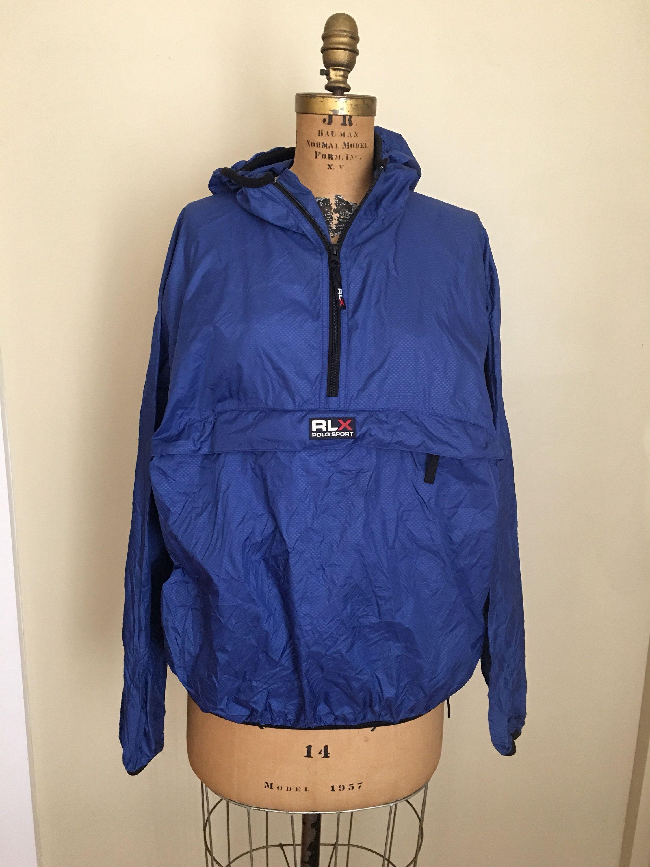 4d6640d7e79a Vintage Polo Sport RLX Windbreaker Nylon Jacket, Athletic Jacket,  Lightweight Jacket, Bright Blue Ralph Lauren Polo Sport Windbreaker Jacket  by ...