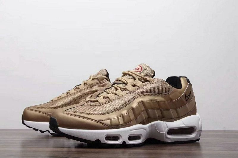 reputable site 8a889 47fad 2018 Authentic Men Nike Air Max 95 Golden Black White On Line | Off ...
