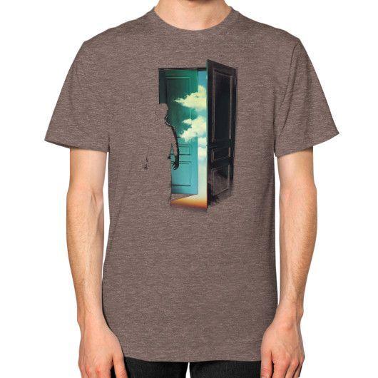 Door to the World Unisex T-Shirt (on man)